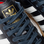 adidas Originals Hamburg Made In Germany Sneakers Collegiate Navy/White/Gold Metallic photo- 6