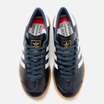 adidas Originals Hamburg Made In Germany Sneakers Collegiate Navy/White/Gold Metallic photo- 4