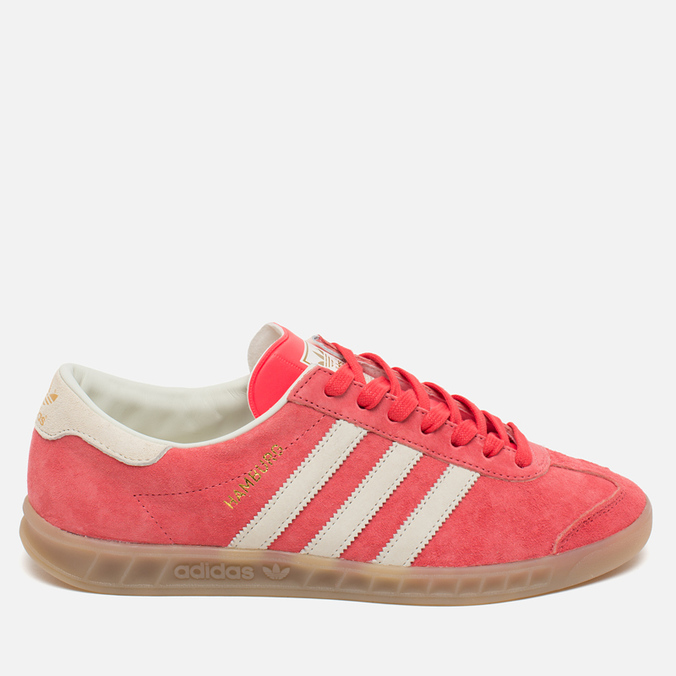Кроссовки adidas Originals Hamburg Shock Red/Off White/Beige