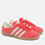 Кроссовки adidas Originals Hamburg Shock Red/Off White/Beige фото- 1
