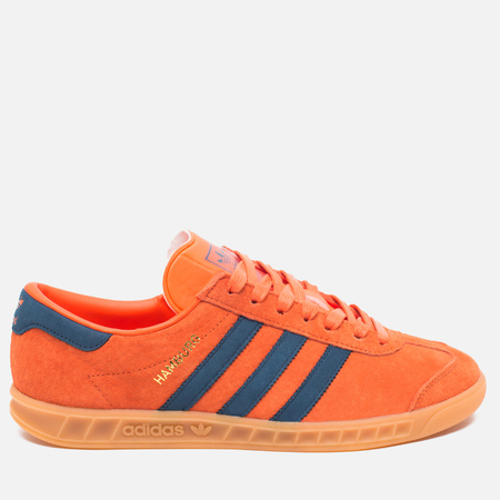 adidas Originals Hamburg Sneakers Super Orange/Sub Blue/Gum