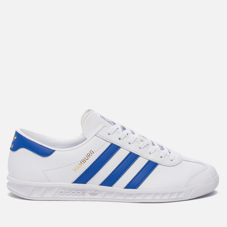 Кроссовки adidas Originals Hamburg White/Bold Blue/Gold Metallic