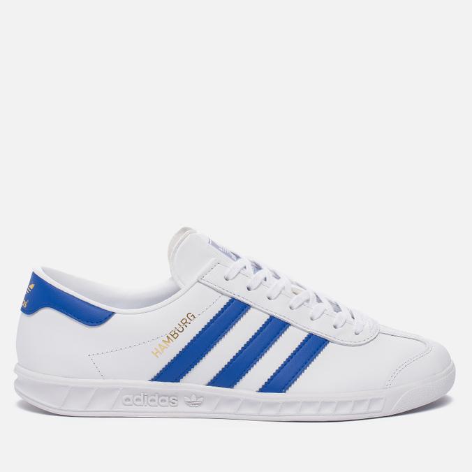 Кроссовки adidas Originals Hamburg White/Bold Blue/Gold Metallic