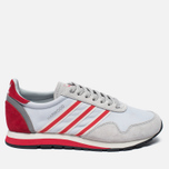 Мужские кроссовки adidas Originals Harwood Spezial Clear Grey/Ray Red/Off White фото- 0
