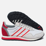 Мужские кроссовки adidas Originals Harwood Spezial Clear Grey/Ray Red/Off White фото- 1