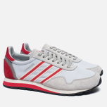 Мужские кроссовки adidas Originals Harwood Spezial Clear Grey/Ray Red/Off White фото- 2