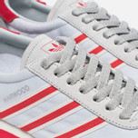 Мужские кроссовки adidas Originals Harwood Spezial Clear Grey/Ray Red/Off White фото- 3