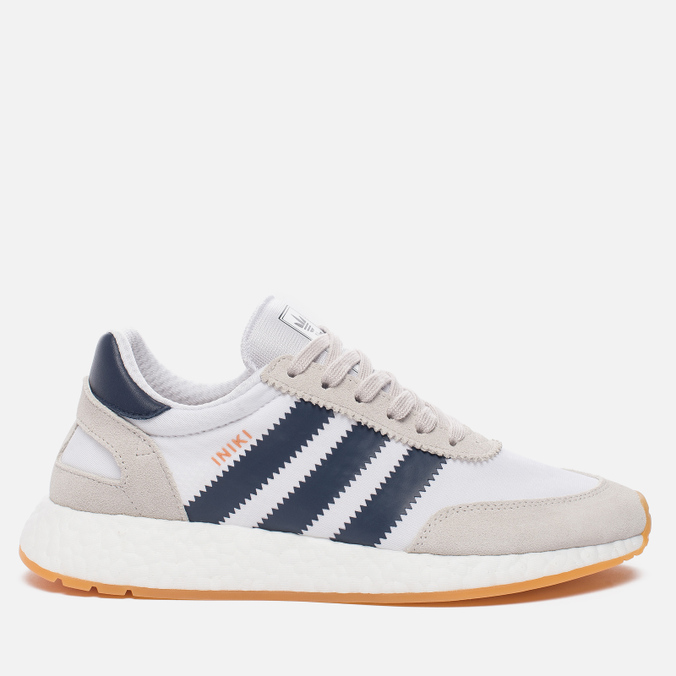 Кроссовки adidas Originals Iniki Runner Boost White/Collegiate Navy/Gum