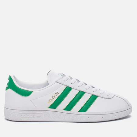 Кроссовки adidas Originals Munchen Core White/Green/Gold Metallic