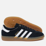 Кроссовки adidas Originals Munchen Core Black/White/Gum фото- 1