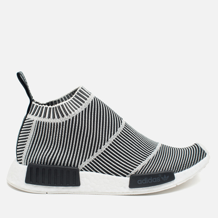 adidas Originals NMD City Sock Boost Primeknit Reflective Sneakers Black/Off White