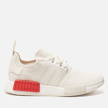 Кроссовки adidas Originals NMD R1 Off White/Off White/Lush Red