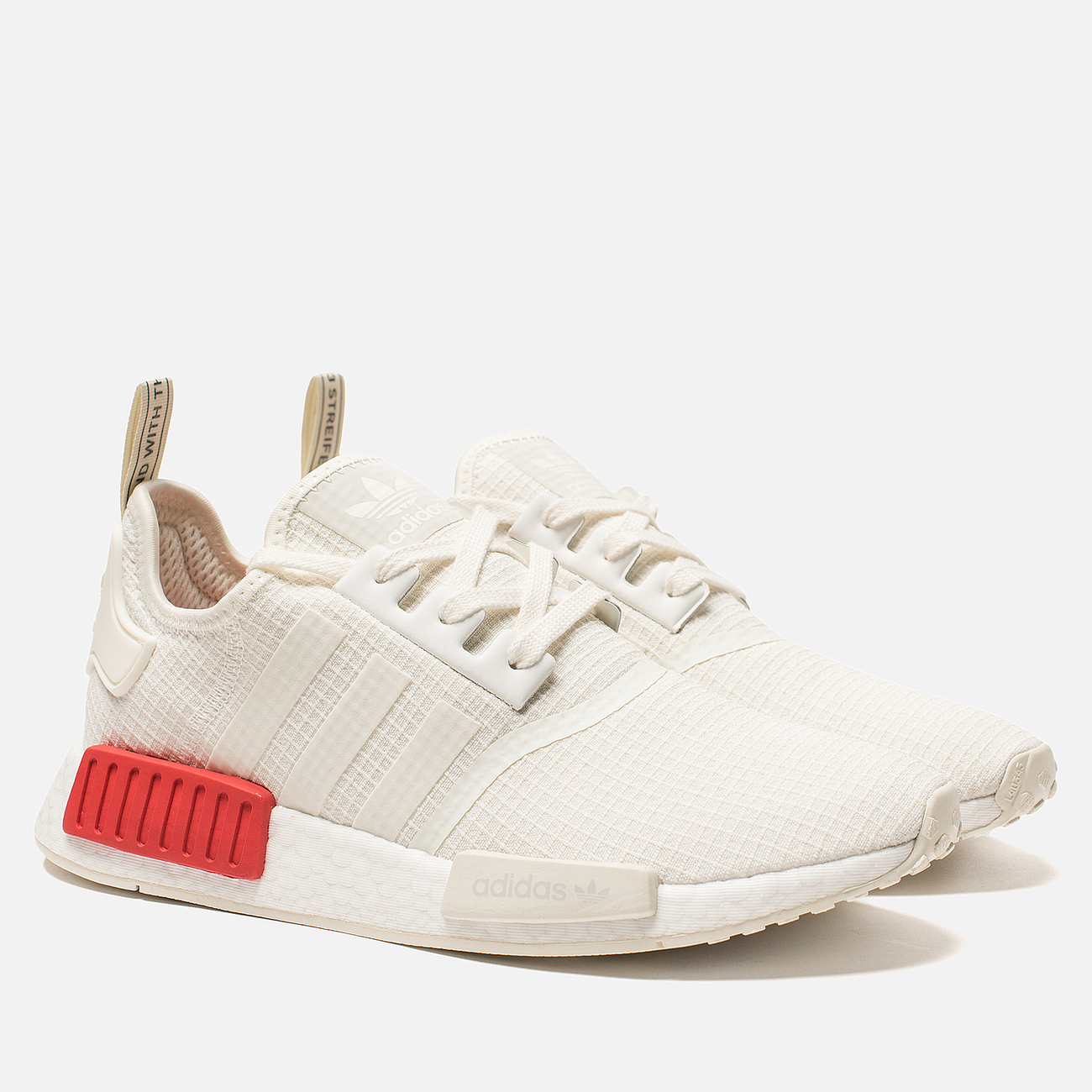 Кроссовки adidas Originals NMD R1 Off White/Off White/Lush Red