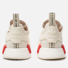 Кроссовки adidas Originals NMD R1 Off White/Off White/Lush Red фото- 2