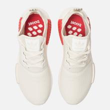 Кроссовки adidas Originals NMD R1 Off White/Off White/Lush Red фото- 1