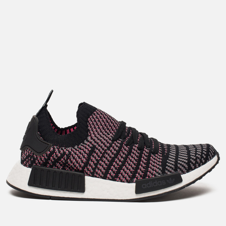 Кроссовки adidas Originals NMD R1 Primeknit STLT Core Black/Grey Four/Solar Pink