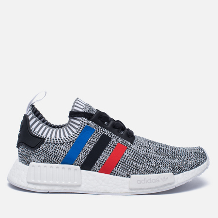 Кроссовки adidas Originals NMD R1 Primeknit Tri-color White/Core Red/Core Black