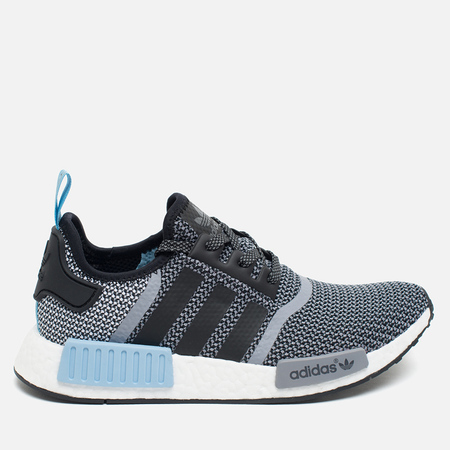 adidas Originals NMD R1 Runner Sneakers Black/White/Clear Blue