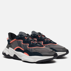 Кроссовки adidas Originals Ozweego Core Black/Grey Six/Signal Coral