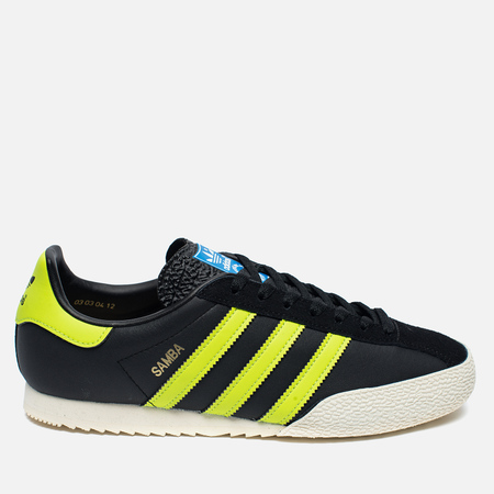 Мужские кроссовки adidas Originals Samba Spezial Black/Lime/White
