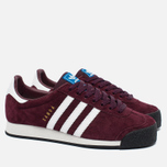Кроссовки adidas Originals Samoa Vintage Vinous/White/Black фото- 2
