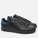 adidas Originals Stan Smith Core Sneakers Black/Collegiate Royal photo- 1