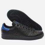 adidas Originals Stan Smith Core Sneakers Black/Collegiate Royal photo- 2