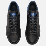 adidas Originals Stan Smith Core Sneakers Black/Collegiate Royal photo- 4