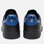 adidas Originals Stan Smith Core Sneakers Black/Collegiate Royal photo- 5