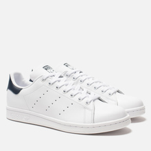 Кроссовки adidas Originals Stan Smith Core White/Core White/Blue фото- 0