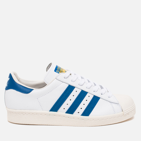 adidas Originals Superstar 80s Sneakers White/Dark Royal/Chalk White