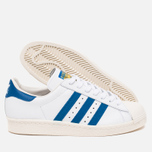 Кроссовки adidas Originals Superstar 80s White/Dark Royal/Chalk White фото- 2