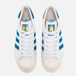 Кроссовки adidas Originals Superstar 80s White/Dark Royal/Chalk White фото- 4