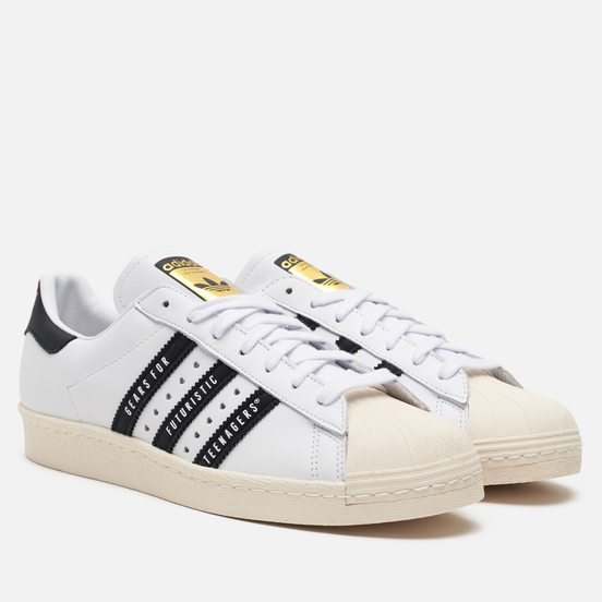 Кроссовки adidas Originals x Human Made Superstar 80s White/Core Black/Off White