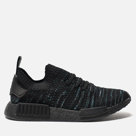 Кроссовки adidas Originals x Parley NMD_R1 Primeknit STLT Core Black/Blue Spirit/EQT Green