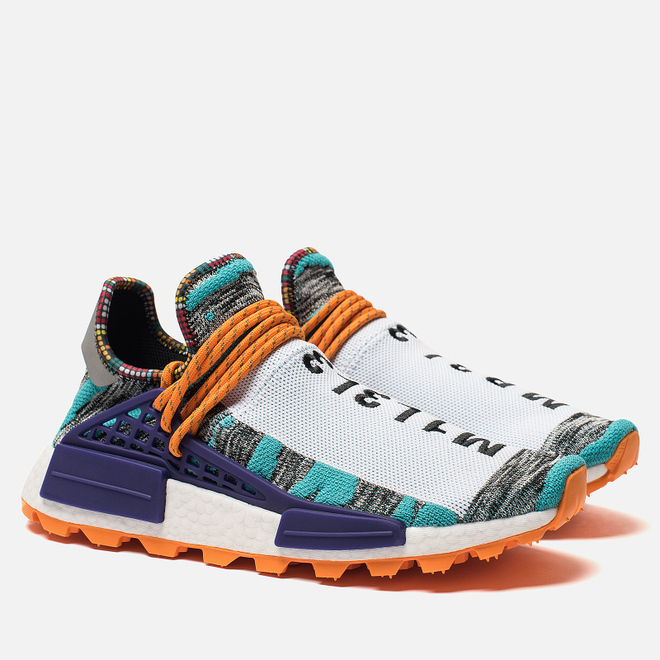 Кроссовки adidas Originals x Pharrell Williams Afro HU NMD Hi-Res Aqua/Collegiate Purple