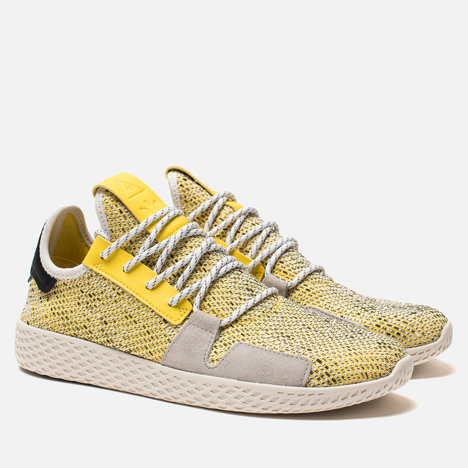 Кроссовки adidas Originals x Pharrell Williams Afro Tennis HU V2 Yellow/White/Chalk White