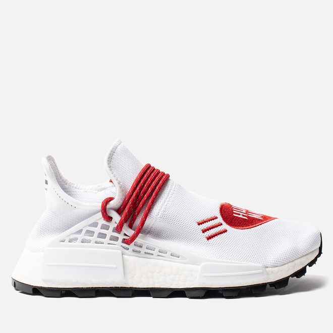 Кроссовки adidas Originals x Pharrell Williams x Human Made NMD HU White/Scarlet/Core Black