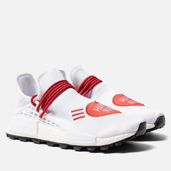 Кроссовки adidas Originals x Pharrell Williams x Human Made NMD HU White/Scarlet/Core Black