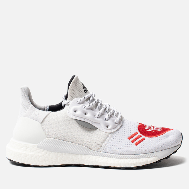 Кроссовки adidas Originals x Pharrell Williams x Human Made Solar HU White/Core Black/Scarlet