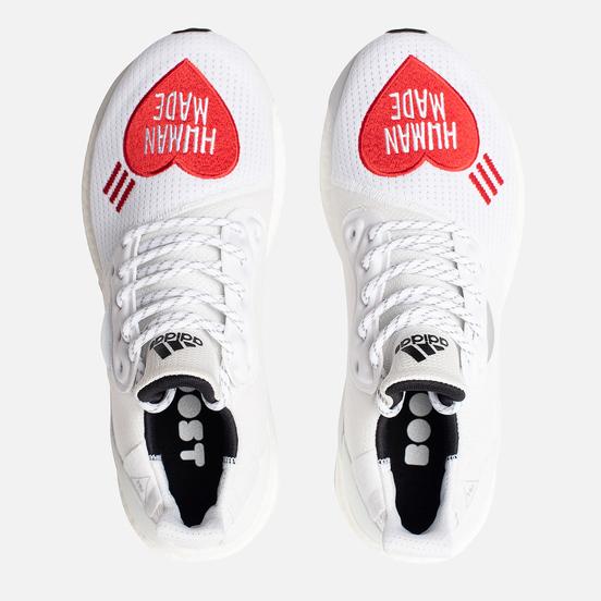 Мужские кроссовки adidas Originals x Pharrell Williams x Human Made Solar HU White/Core Black/Scarlet