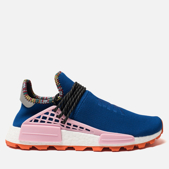 Кроссовки adidas Originals x Pharrell Williams Solar HU NMD Power Blue/Light Pink/Orange