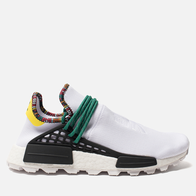 Кроссовки adidas Originals x Pharrell Williams Solar HU NMD White/Bold Green/Bright Yellow