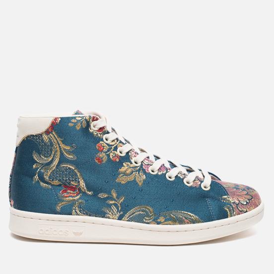 Кроссовки adidas Consortium x Pharrell Williams Stan Smith Mid Jacquard Stonewash Blue/Multicolour