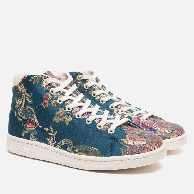 Кроссовки adidas Consortium x Pharrell Williams Stan Smith Mid Jacquard Stonewash Blue/Multicolour