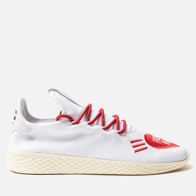 Кроссовки adidas Originals x Pharrell Williams x Human Made Tennis HU White/Scarlet/Cream White