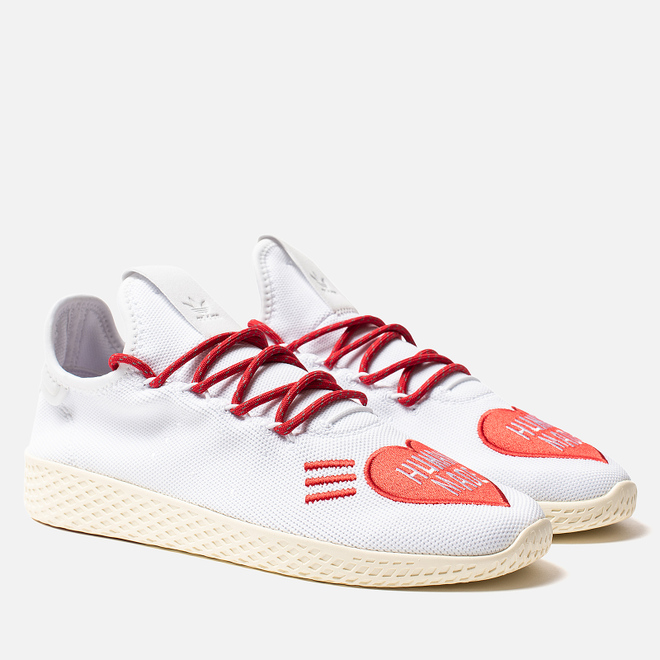 Мужские кроссовки adidas Originals x Pharrell Williams x Human Made Tennis HU White/Scarlet/Cream White