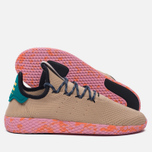 Мужские кроссовки adidas Originals x Pharrell Williams Tennis Hu Tan/Teal/Pink Marble фото- 1