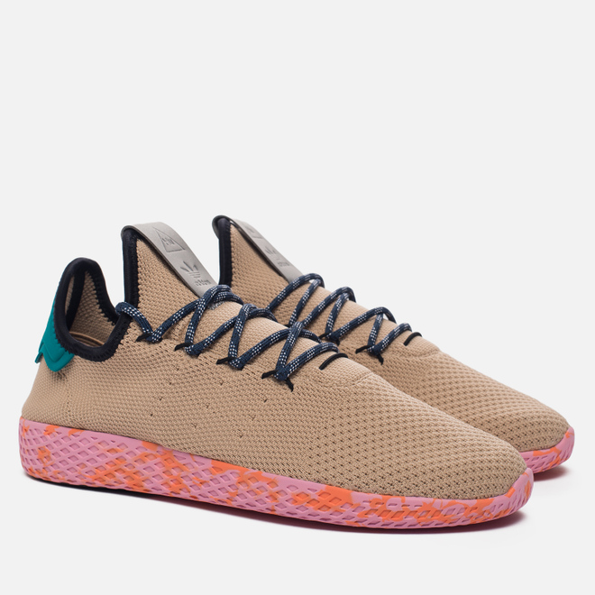 Мужские кроссовки adidas Originals x Pharrell Williams Tennis Hu Tan/Teal/Pink Marble