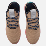Мужские кроссовки adidas Originals x Pharrell Williams Tennis Hu Tan/Teal/Pink Marble фото- 4